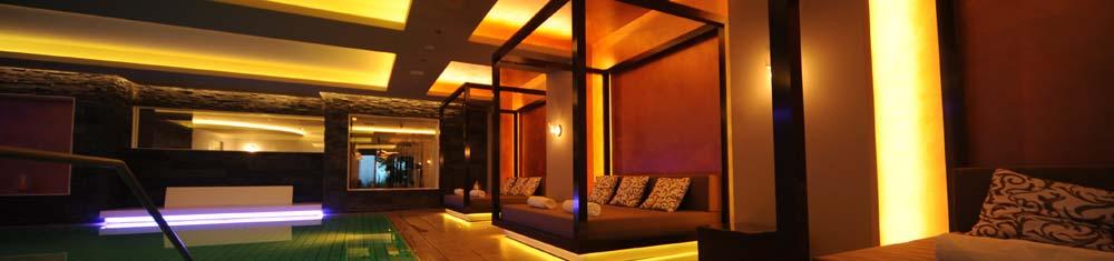 Lichttechnik Sauna